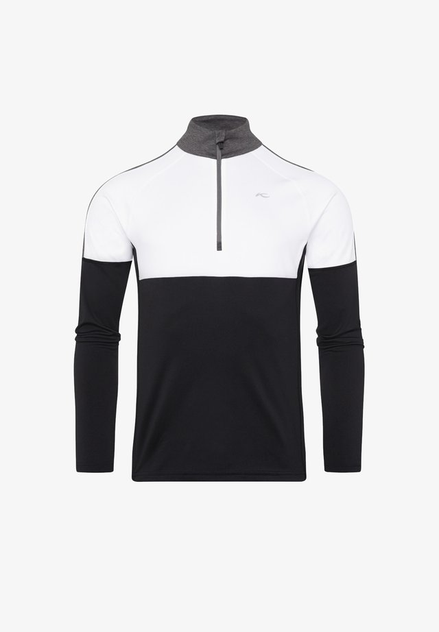 RACE HALF ZIP - Long sleeved top - black-white