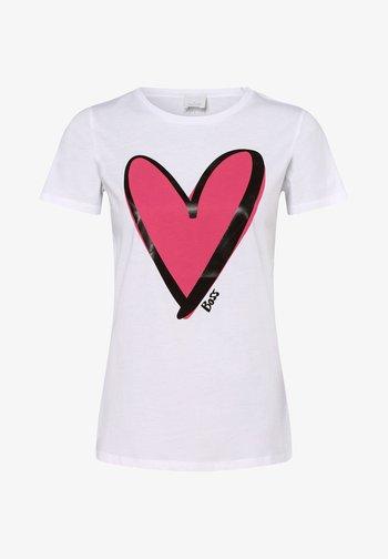 THE C EJANA - Print T-shirt - weiß