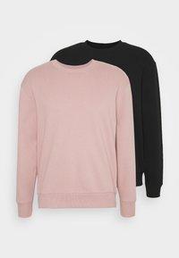black, pink