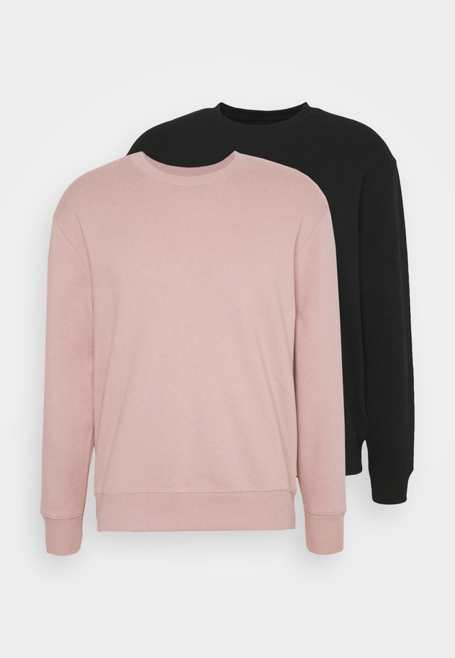 CREW 2 PACK - Sweater - black, pink