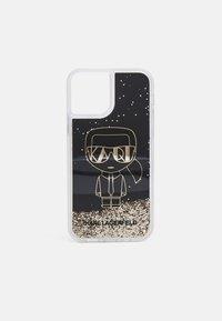KARL LAGERFELD - IKONIK GLITTER IPHONE 12/12 PRO - Phone case - black - 0