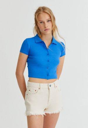 Button-down blouse - royal blue