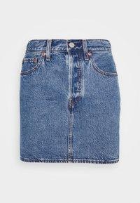 RIBCAGE SKIRT - Mini skirt - blue denim