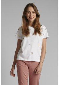 Nümph - NUCAROL - Print T-shirt - bright white - 0