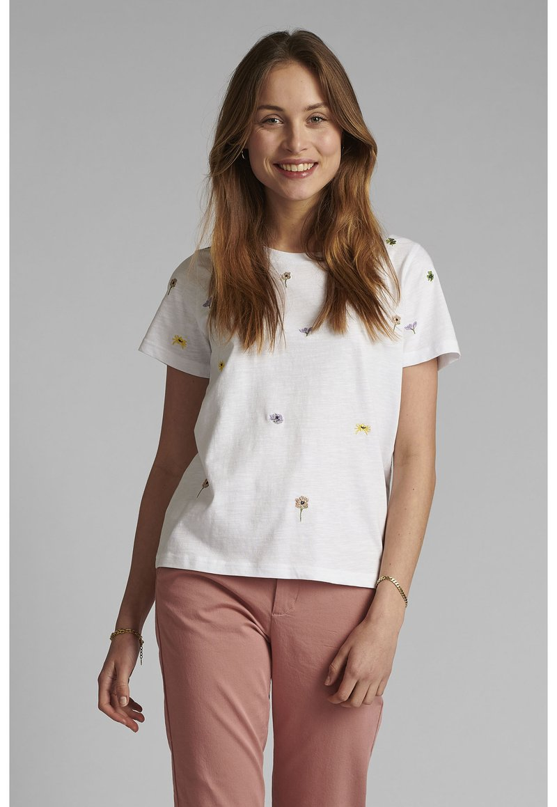 Nümph - NUCAROL - Print T-shirt - bright white