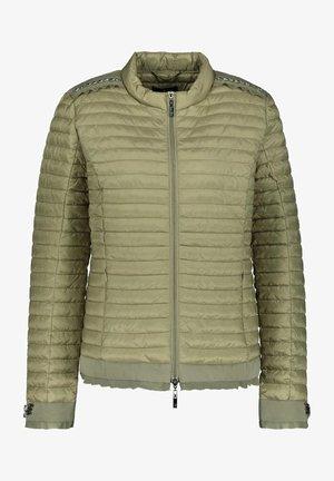 MIT APPLIKATIONEN - Down jacket - salbei