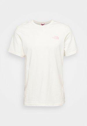 SIMPLE DOME TEE - T-shirt basic - gardenia white/peach pink