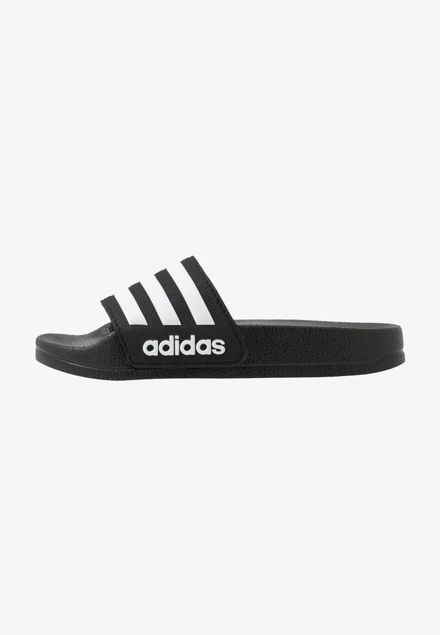 ADILETTE SHOWER UNISEX - Badslippers - core black/footwear white