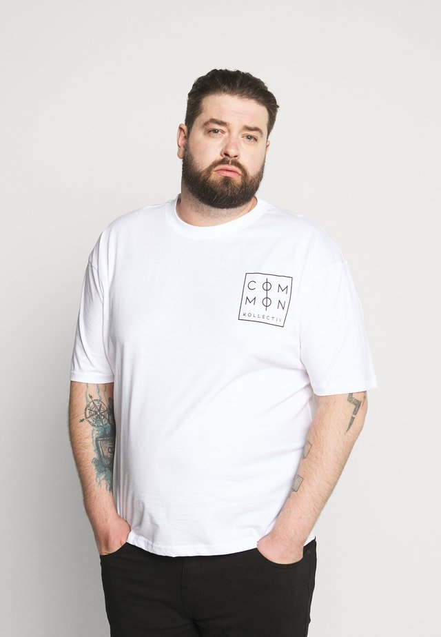 ZONE - T-shirt med print - white