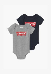 Levi's® - BATWING 2 PACK UNISEX - Body - grey heather/dress blues - 0