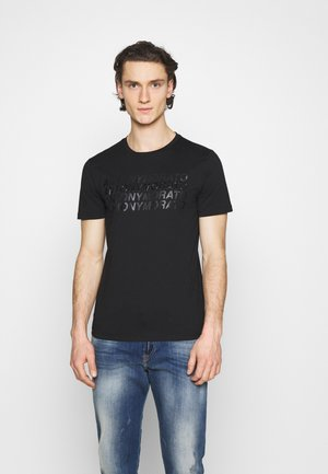 SLIM FIT WITH LOGO - T-shirt con stampa - nero
