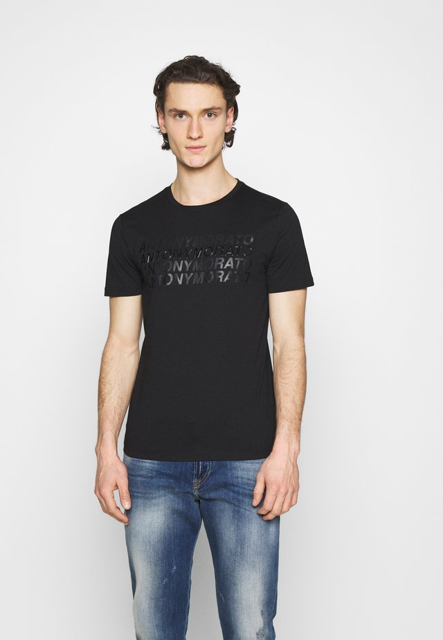 SLIM FIT WITH LOGO - T-shirt med print - nero