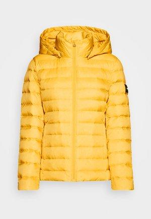 COATED ZIP LIGHT JACKET - Down jacket - yellow dahlia