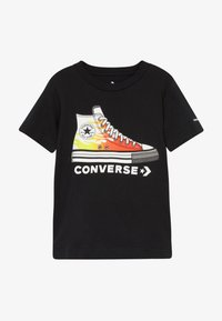 Converse - PRINTED SNEAKER TEE - T-shirt z nadrukiem - black - 2