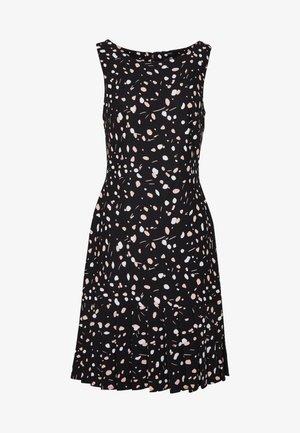 SHEATH WITH PLEAT FLOUNCE - Sukienka z dżerseju - black