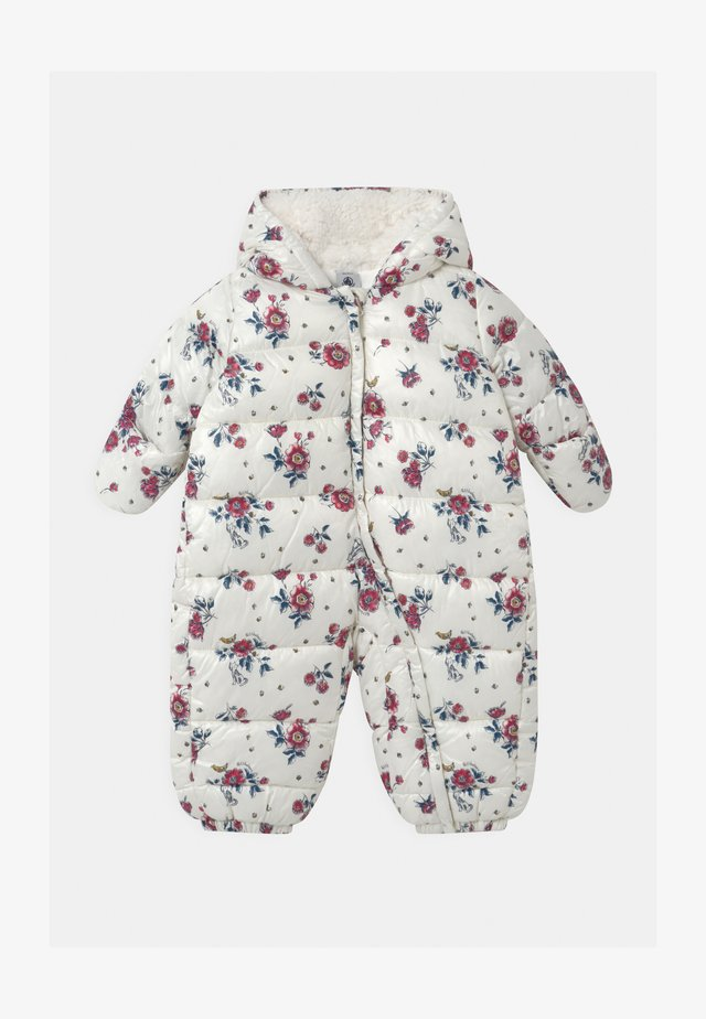 BABY COMBIPILOTE - Snowsuit - marshmallow/rose/multico