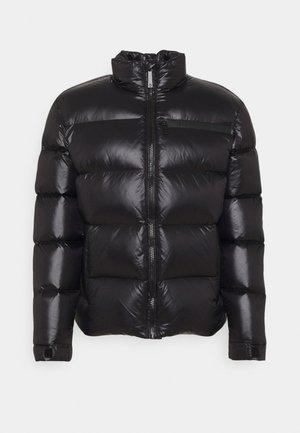 MID COLLAR SHINY LIGHT - Down jacket - black