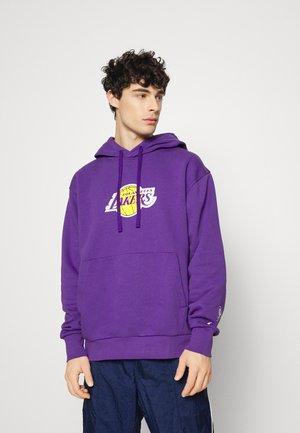 NBA LOS ANGELES LAKERS ESSENTIAL LOGO HOODIE - Sweatshirt - field purple
