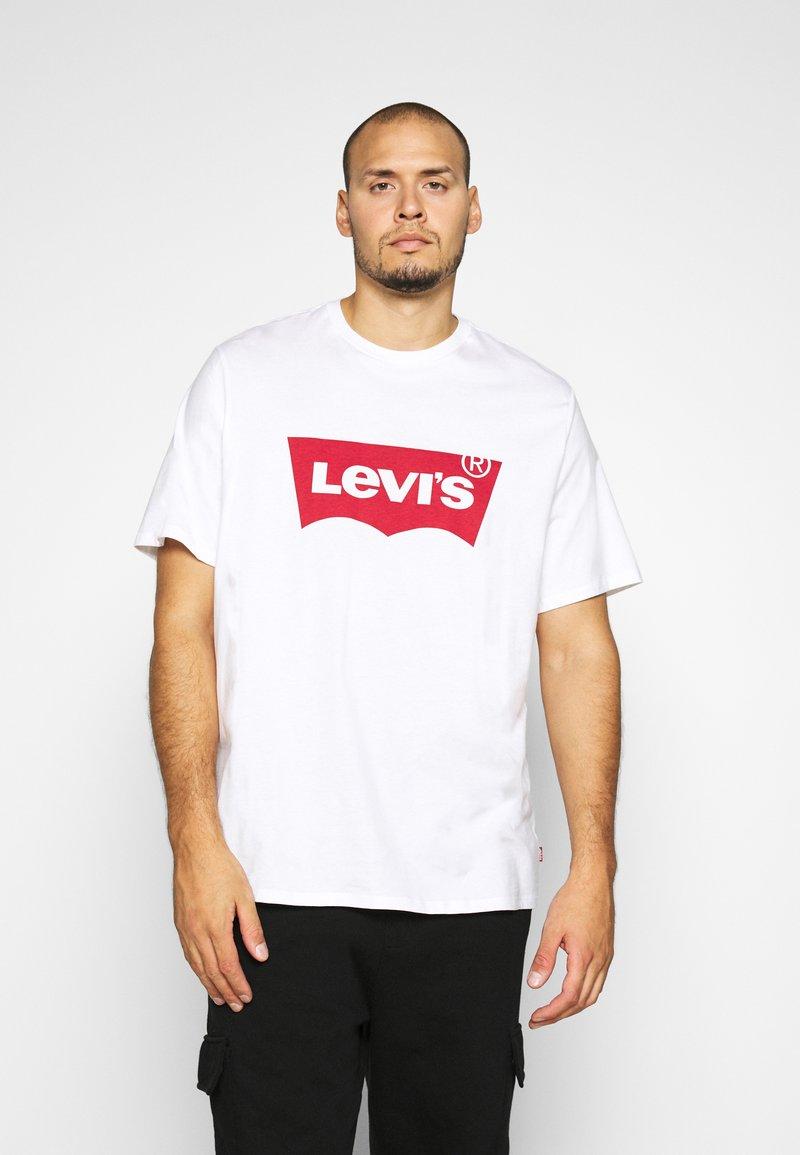 Levi's® Plus - BIG GRAPHIC TEE - Print T-shirt - big white