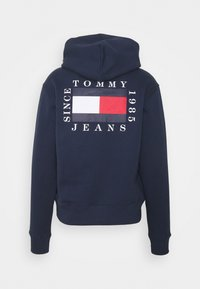 Tommy Jeans - HALF ZIP HOODIE UNISEX - Sweatshirt - twilight navy - 4