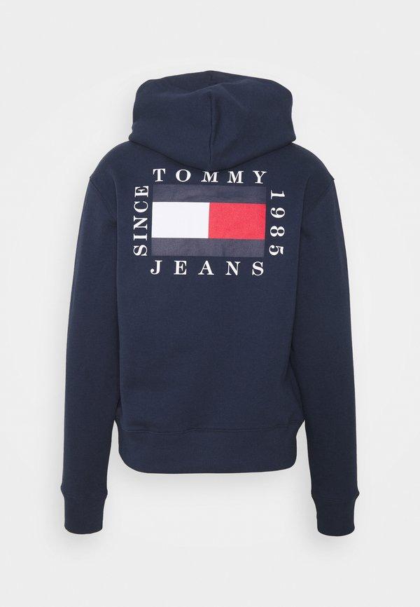 Tommy Jeans HALF ZIP HOODIE UNISEX - Bluza - twilight navy/granatowy Odzież Męska BFZB