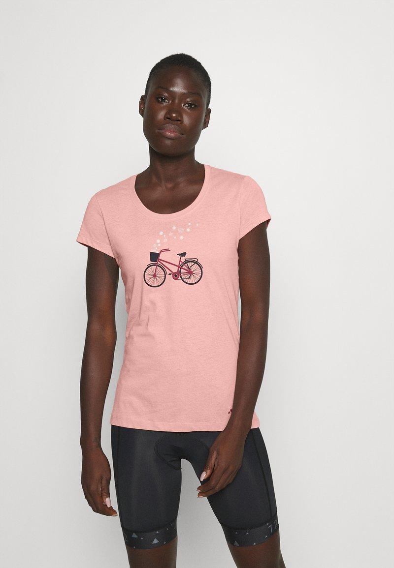 Vaude - WOMEN'S CYCLIST - T-shirt con stampa - soft rose