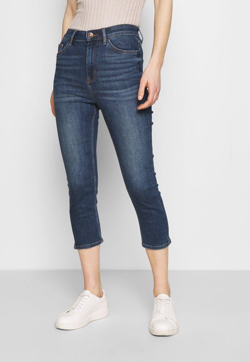 Marks & Spencer London - CROPPED - Jeans Skinny Fit - dark blue denim