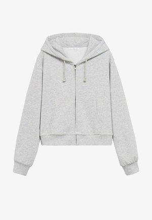 Sweater met rits - gris chiné moyen