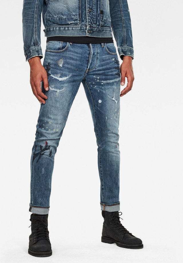 3301 SLIM - Slim fit jeans - sun faded prussian blue painted
