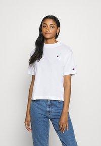 Champion Reverse Weave - Print T-shirt - white - 0