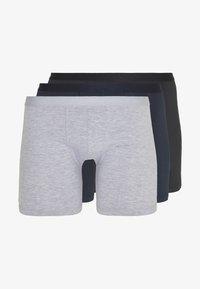 Pier One - 3 PACK - Pants - grey/black/blue - 4