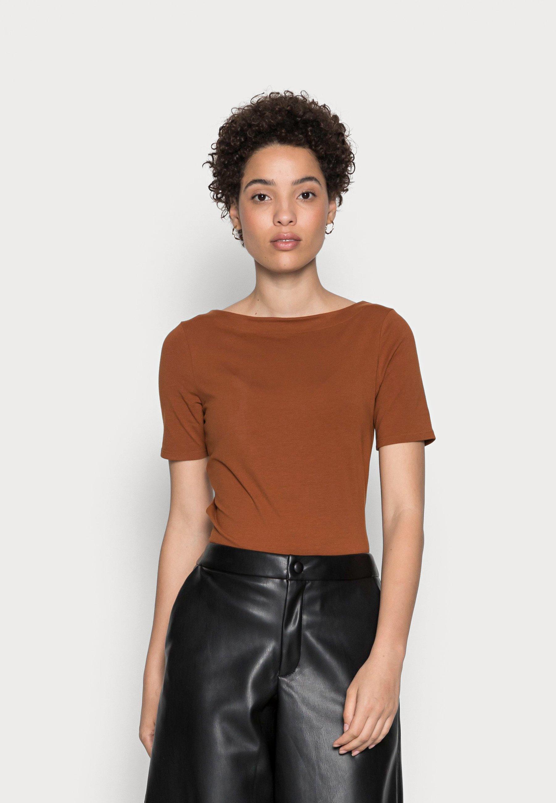 Damen BOAT NECK TEE - T-Shirt basic
