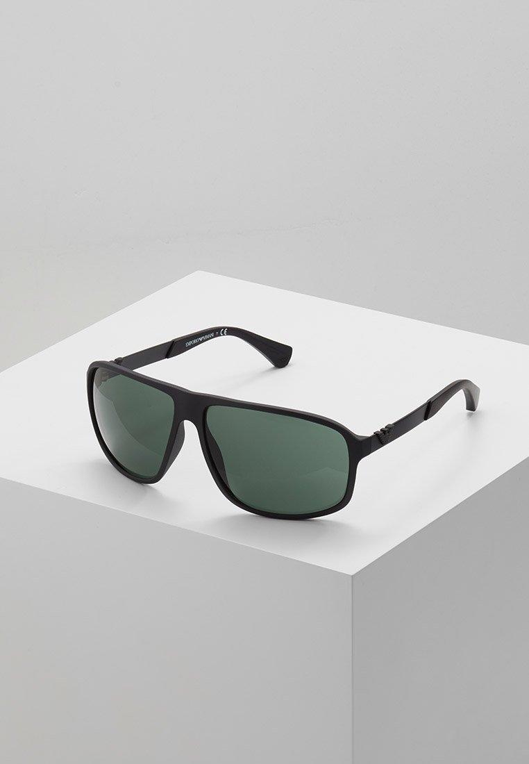 Emporio Armani - Sunglasses - matte black/green
