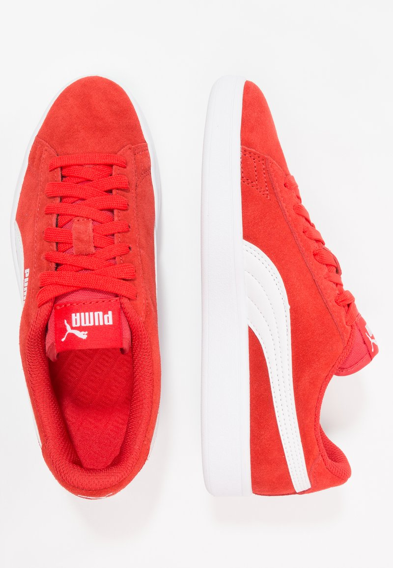 Puma - SMASH - Trainers - high risk red/white