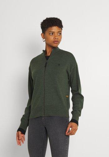 CORE ZIP THRU - Cardigan - dark bronze green