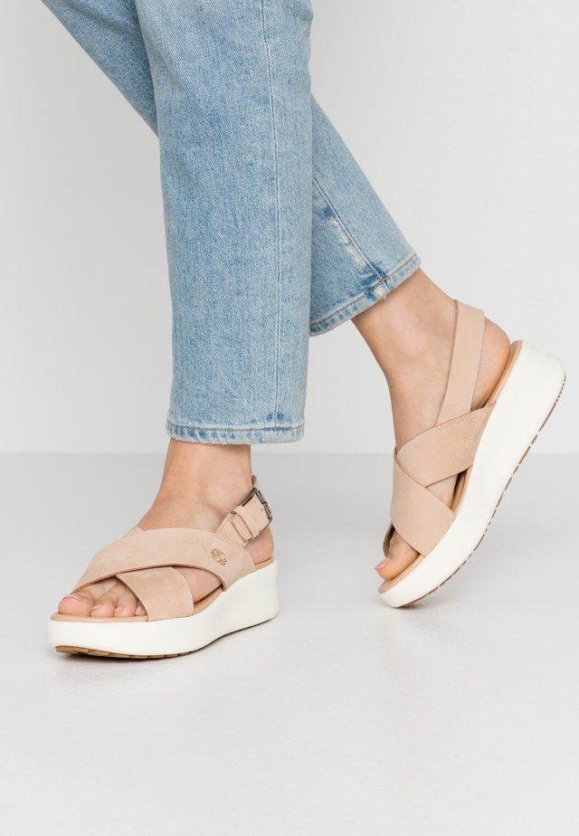 LOS ANGELES WIND SLINGBAC - Platåsandaletter - light beige