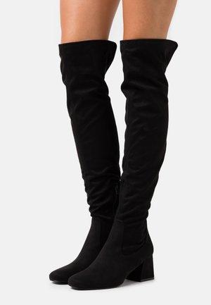 DELENA - Kozačky nad kolena - black