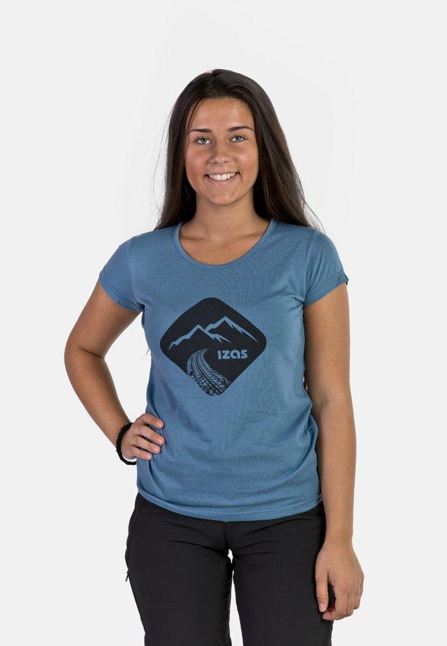 T-shirt imprimé - blue-grey