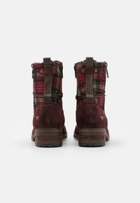 Mustang - Lace-up ankle boots - bordeaux - 3
