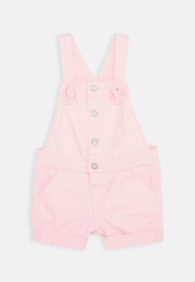 TODDLER GIRL SHORTALL - Dungarees - pink denim
