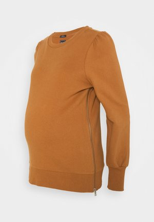 PUFF SIDE ZIP NURSING - Sweatshirt - copper