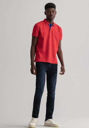 PLUS CONTRAST COLLAR RUGGER - Poloshirt - bright red