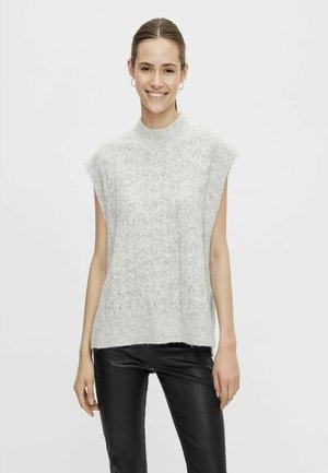 YASNADIA - Stickad tröja - light grey melange