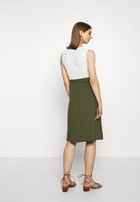 Even&Odd - A-line skirt - olive night - 2