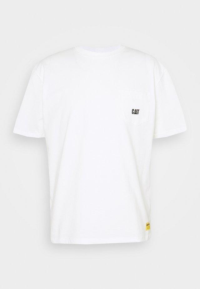 BASIC POCKET CAT  - Basic T-shirt - cream