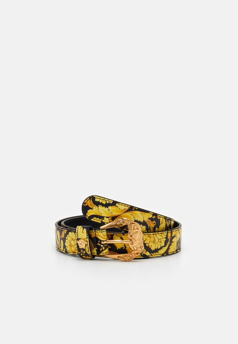 Versace - CINTURA VITELLO - Belt - nero/oro