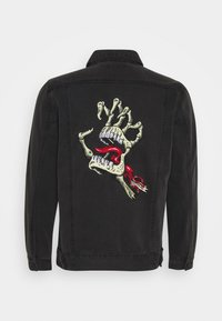 Santa Cruz - UNISEX VINTAGE BONE HAND JACKET - Denim jacket - black - 1