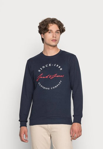 JJHERRO CREW NECK - Felpa - navy blazer
