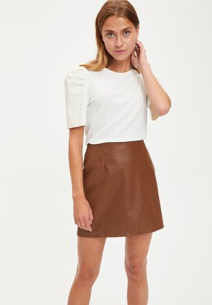 Mini skirt - brown