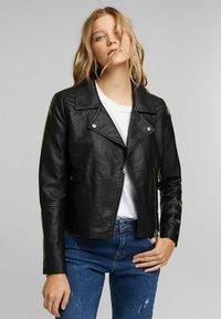 edc by Esprit - Faux leather jacket - black - 0